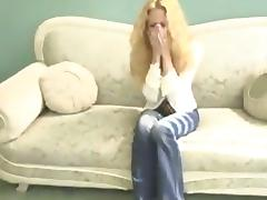 Breathtaking blonde with big tits yelling while being logged hardcore in reality shoot