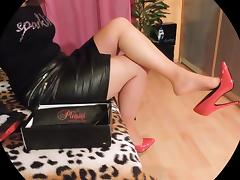 High Heels sexy legs and leather