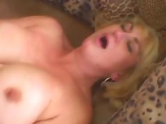 Sexy Blonde GILF Dana Hayes Masturbates and Fucks