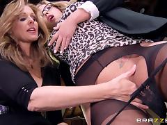 julia and olivia make out in the office