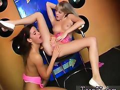 Sexy youthful lesbians