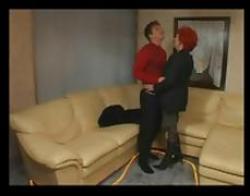 Redhead Granny Having Anal with Younger BVR