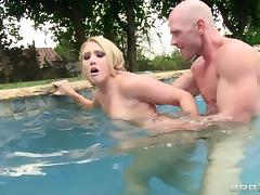 Outdoor anal sex with small tits blonde butt slut AJ Applegate