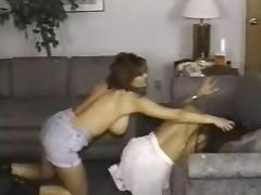 Retro Busty Catfight porn tube video