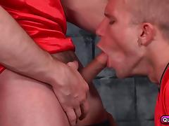 Five hunks have some gourp orgy in the locker room. porn tube video
