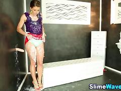 Gloryhole toyed glam slut tube porn video