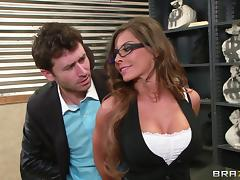 Jewelry thief fucks sexy store clerk Madison Ivy in her wet cunt