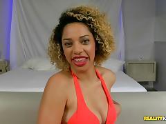 Cute Brazilian in braces fucked in her pretty pussy