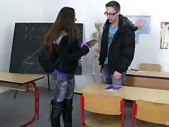 Classroom, Blowjob, College, Couple, Cowgirl, Curvy