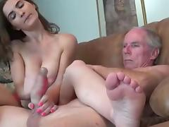 Boyfriend, Boyfriend, Friend, Grandpa, Jerking, Masturbation