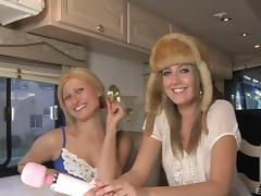 Girls in the RV get to sample the pleasures of big black cock porn tube video