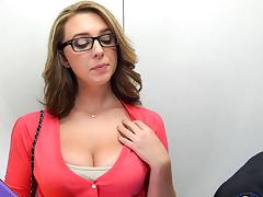 Glasses and big natural boobs amateur for...