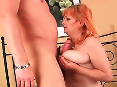 Grandma\'s boobs need a cum glazing