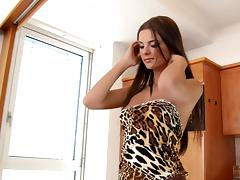 Leopard print is perfection on the gorgeous Euro chick