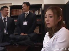 A Japanese babe gets her nipples and pussies rocked by toys