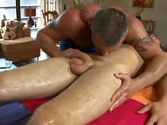 Steamy hot gay massage