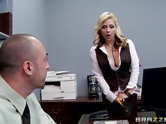 Boss, Big Tits, Blowjob, Boss, Bra, Couple