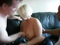 Blonde amateur mature takes two cocks tube porn video