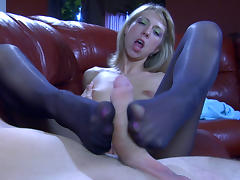 NylonFeetVideos Video: Felicia C and Rolf tube porn video