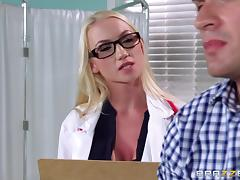 Doctor in heels and stockings is cock crazy in the exam room tube porn video
