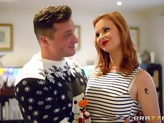 Redhead perfection Tarra White sucks his dick and gets laid