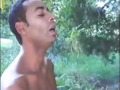 Amateur gays having hot sex in the forest tube porn video