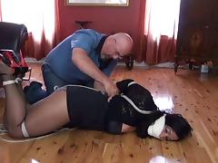 Beauty, pantyhose and ropes 2 porn tube video