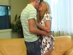 zwanger blondje