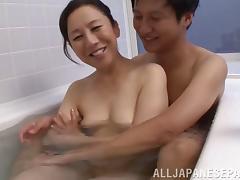 Bathroom, Asian, Bath, Bathing, Bathroom, Couple