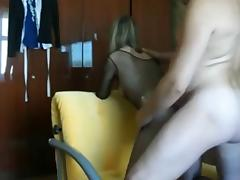Slim trollop in hot bodystocking wants it from behind tube porn video