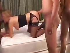Slut Wife Joy Fucked Hard Interracial Gangbang