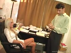 Mini-skirt clad blonde with a hot ass enjoying a hardcore doggy style fuck porn tube video