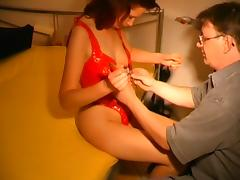 Thigh high boot fuck porn tube video