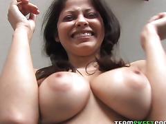 Latina, Blowjob, Brunette, Couple, Cum, Cumshot