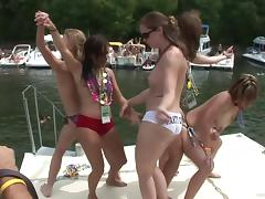 Hot sexy babes in in beach party showing off ass and tits
