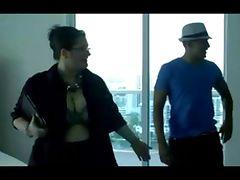 chubby woman shows an apartment tube porn video