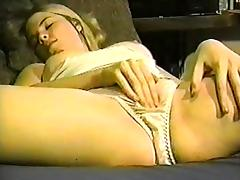 Pantie can't hide her orgasm contractions