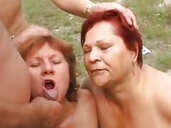 Grandma, Anal, Assfucking, Blowjob, Cum, Cumshot
