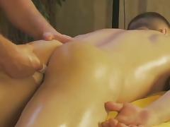 Stud gets fingered anally as a relaxation massage