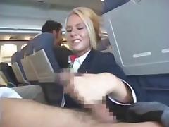 Blowjob, Blowjob, Handjob, Outdoor, Stewardess, Sucking