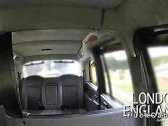 Naughty British amateur fucked in fake taxi tube porn video