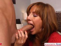 Chesty mom Tara Holiday slurp a big dick