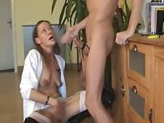 Saggy german MILF in boots deepthroat porn tube video