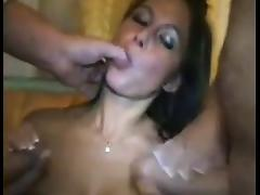 Young Wife Cuckolds Hubby with 2 Men