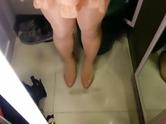 Beige Patent Pumps with Pantyhose Teaser 3 porn tube video