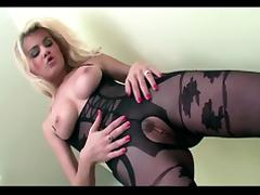 Blonde, Blonde, Bodystocking, Fucking, Stockings, Crotchless