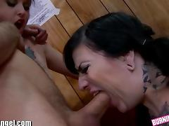 BurningAngel Tattooed and DP'd Anal Orgy
