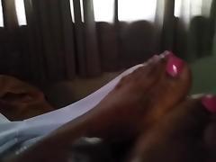 my haitian friend giving me a footjob