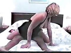 Hubby films her wifey fucking a fat black cock