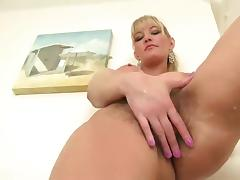 Hairy Blonde Show All in Bathroom